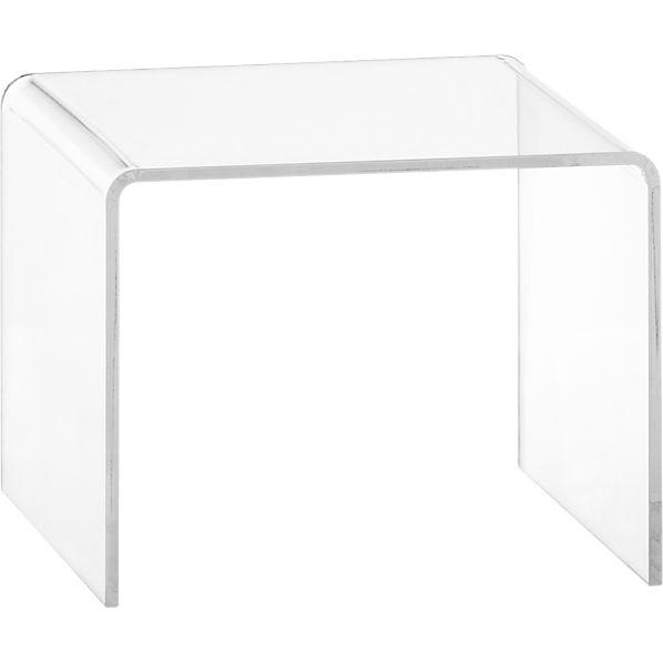 Peekaboo Clear Low Side Table   CB2