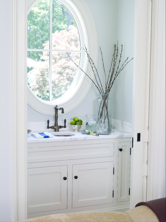 Small Powder Room Transitional Living Room Alisberg