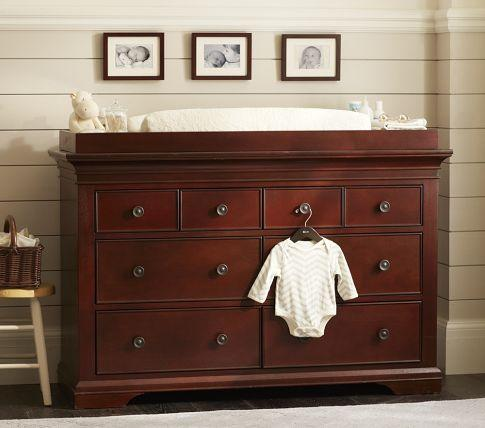larkin extra wide dresser changing table pottery barn kids. Black Bedroom Furniture Sets. Home Design Ideas