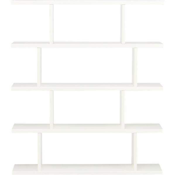 White Bookcase Cb2