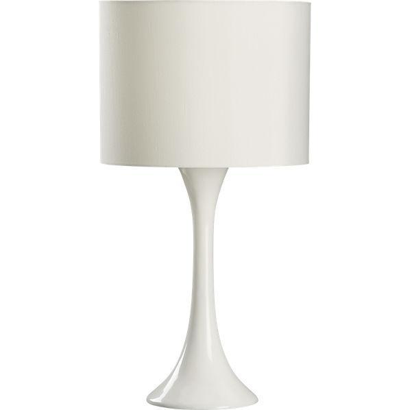 Ada White Table Lamp Cb2