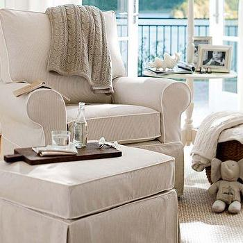 pb kids comfort small round arm glider pottery barn kids - Baby Chair With Name