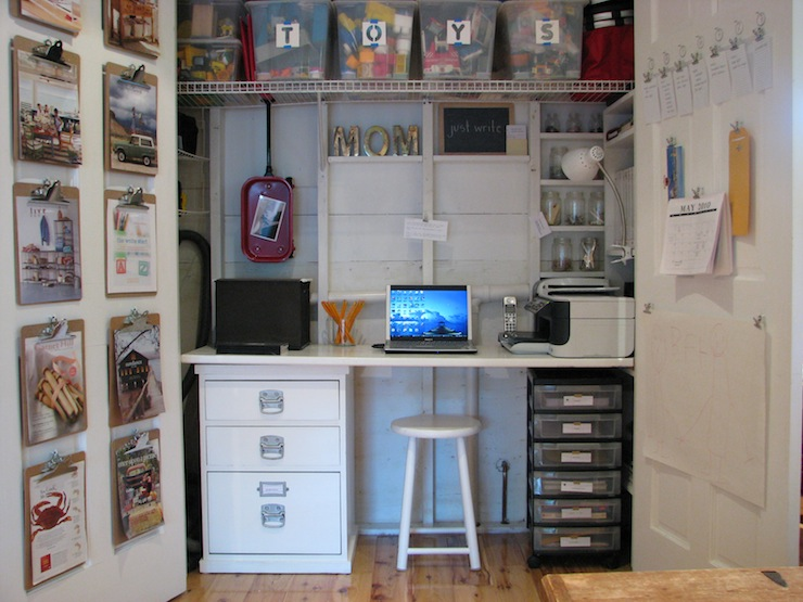 Closet desk design ideas Closet home office design ideas