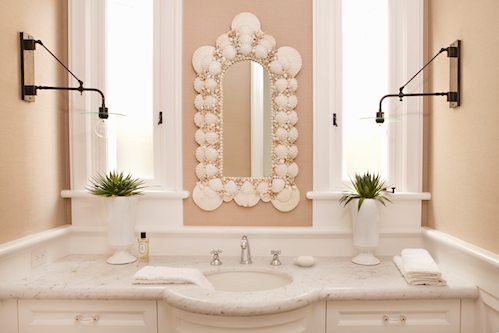 Seashell Mirror Cottage Bathroom Bonesteel Trout Hall