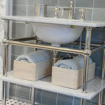 Marble Top Washstand, Transitional, bathroom