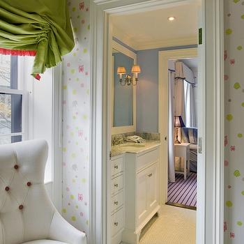 Jack and Jill Bathroom, Transitional, nursery, Kate Coughlin Interiors