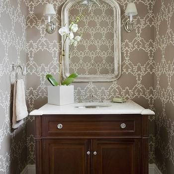 Chic Powder Room, Transitional, bathroom, Kate Coughlin Interiors