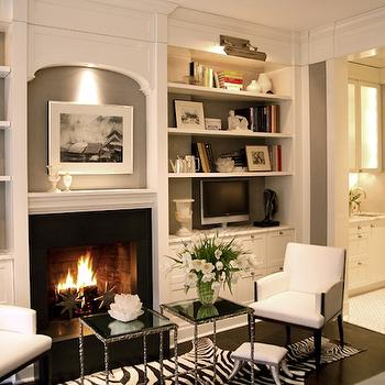 fireplace built ins - Built In Bookshelves Around Fireplace