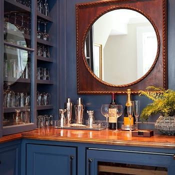 Blue Cabinets, Traditional, living room, Kate Coughlin Interiors