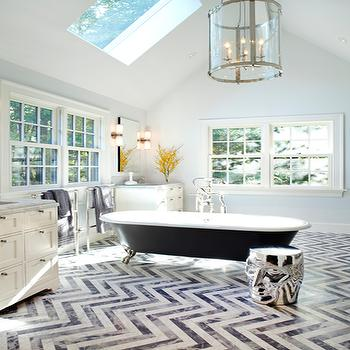 Paul davis new york · chevron tile floor