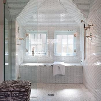Subway Tile Shower Vintage Bathroom Chic Design