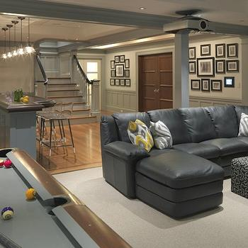 Basement Game Room, Contemporary, basement, Kate Coughlin Interiors