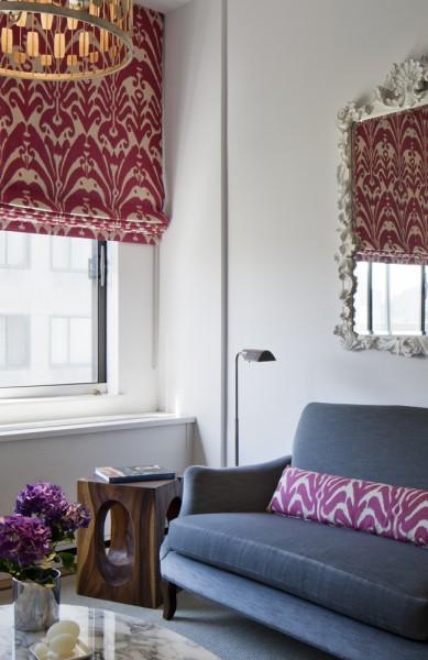 Blush Pink Sofa Contemporary Living Room Sally Wheat