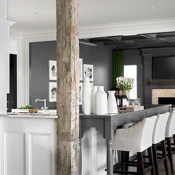 Rustic Wood Beams, Contemporary, kitchen, Melanie Turner Interiors