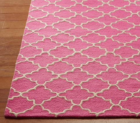 pink trellis area rug. Black Bedroom Furniture Sets. Home Design Ideas