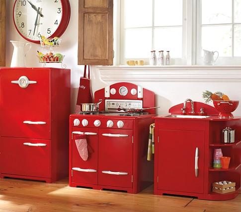 Red Retro Kitchen Collection Pottery Barn Kids