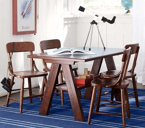 919de00a3856d Hudson Trestle Table and Chairs - Pottery Barn Kids