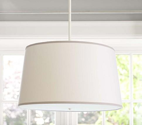 White/Gray Drum Flush Mount Light   Pottery Barn Kids