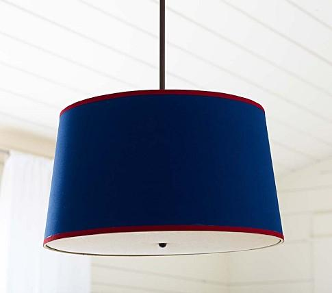 Navy Red Drum Flush Mount Light Pottery Barn Kids