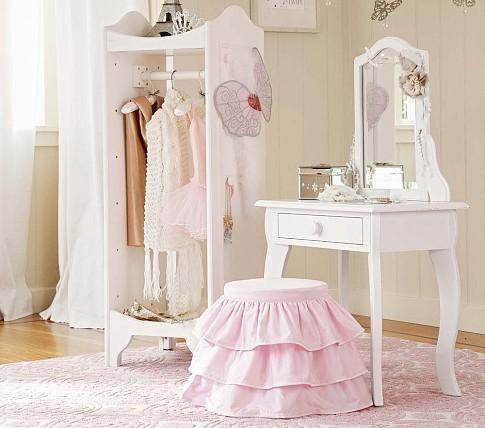 Delightful Claire Vanity And Stool | Pottery Barn Kids