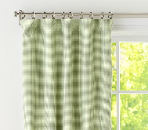 Gingham Panel With Blackout Liner Pottery Barn Kids