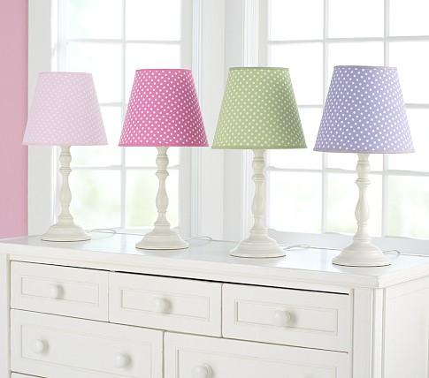 Polka dot shades payton base pottery barn kids aloadofball Choice Image