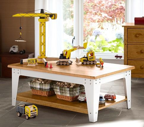 Metal And Wood Activity Table | Pottery Barn Kids