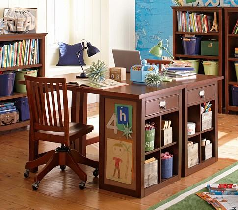 craft desk with storage schoolhouse craft desk pottery barn 3764