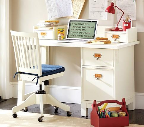 Schoolhouse basic desk small hutch pottery barn kids - Pottery barn schoolhouse chairs ...