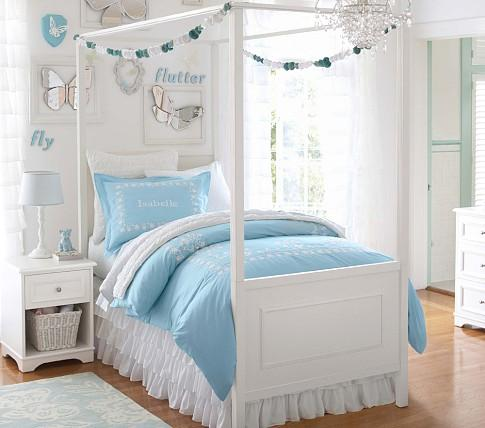 Fillmore Bed u0026 Canopy - Pottery Barn Kids : full canopy bed white - memphite.com