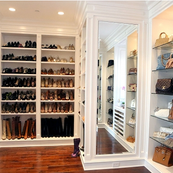 Walk In Closet Shelving, Transitional, closet, Bravo TV