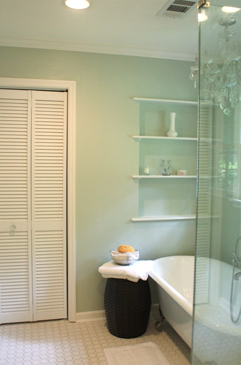 Green Blue Paint Color Traditional Bathroom Sherwin Williams Sea Salt