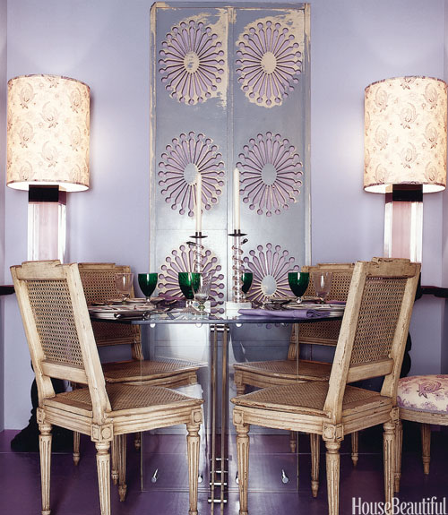 Purple Dining Room Eclectic Dining Room Benjamin