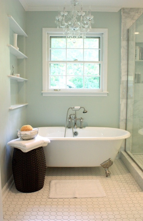 Paint gallery sherwin williams sea salt paint colors for Green bathroom paint colors