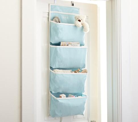 Aqua Harper Over Door Storage Pottery Barn Kids