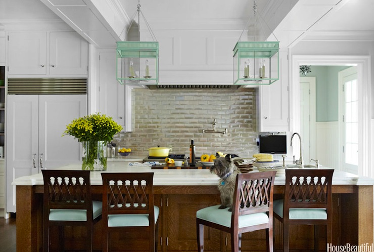 Mint Green Kitchen Accents Cottage Kitchen House