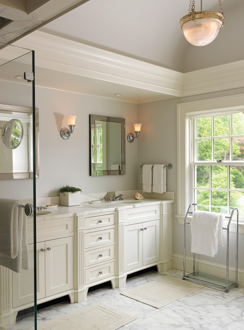 Cream And Gray Bathroom Traditional Bathroom Tobi