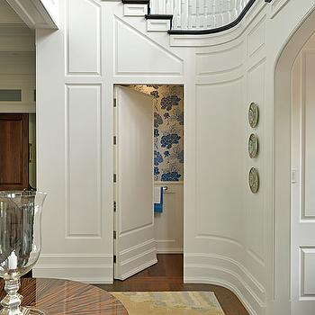 Under staircase door design ideas for Hidden bathroom door ideas