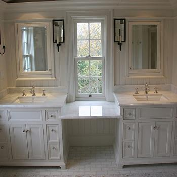 Double vanity Ideas, Traditional, bathroom, Toby Leary Fine Woodworking