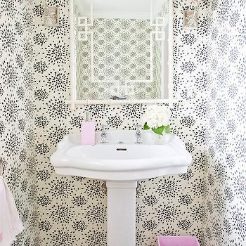 Greek Key Mirror, Contemporary, bathroom, Grays Lane