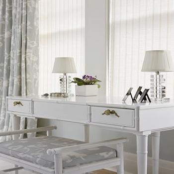 White Bamboo Vanity, Transitional, bedroom, Sally Steponkus Interiors