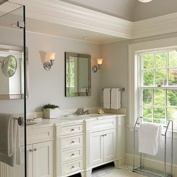 Cream Bathroom Cabinets Design Ideas