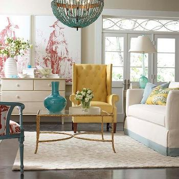 Yellow Tufted Chair, Contemporary, living room, CR Laine Furniture