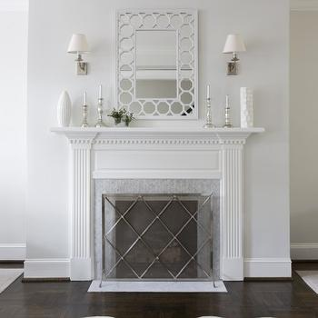 Fireplace Mirror, Contemporary, living room, Sally Steponkus Interiors