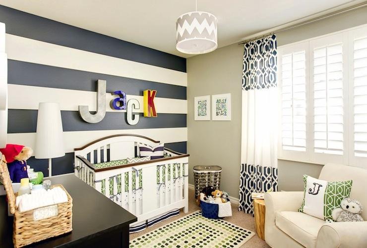 navy blue and white horizontal striped curtains traditional boy 39 s room valspar bonsai. Black Bedroom Furniture Sets. Home Design Ideas