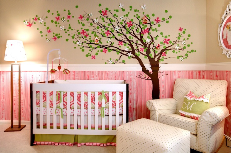 Awesome Pink And Green Nursery