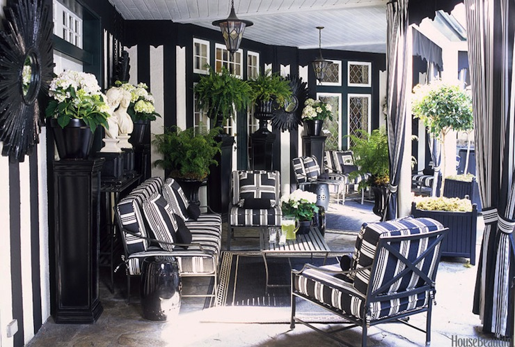 Elegant Black And White Patio Part 7