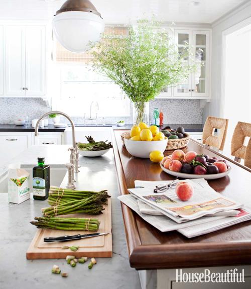 Kitchen Island Raised Bar: Butcher Block Breakfast Bar Design Ideas