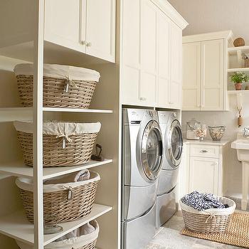 Laundry Sorter Ideas, Cottage, laundry room, BHG