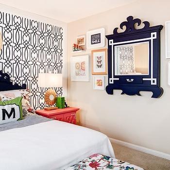 Fluer de Lis Mirror, Contemporary, girl's room, J and J Design Group